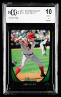 Mike Trout 2011 Bowman Draft #101 RC (BCCG 10) at PristineAuction.com