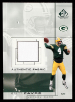 Brett Favre 2001 SP Game Used Edition Authentic Fabric #BF at PristineAuction.com