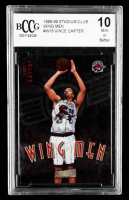 Vince Carter 1998-99 Stadium Club Wing Men #W18 (BCCG 10) at PristineAuction.com