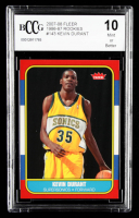 Kevin Durant 2007-08 Fleer 1986-87 Rookies #143 (BCCG 10) at PristineAuction.com