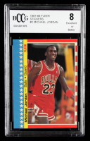 Michael Jordan 1987-88 Fleer Stickers #2 (BCCG 8) at PristineAuction.com