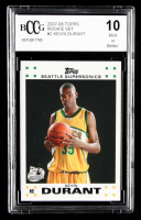 Kevin Durant 2007-08 Topps Rookie Set #2 (BCCG 10) at PristineAuction.com