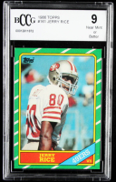 Jerry Rice 1986 Topps #161 RC (BCCG 9) at PristineAuction.com