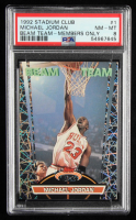 Michael Jordan 1992-93 Stadium Club Beam Team #1 (PSA 8) at PristineAuction.com