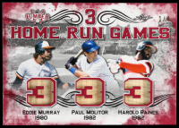 Eddie Murray / Paul Molitor / Harold Baines 2021 Leaf Lumber 3 Home Run Games Red #3HRG11 #1/4 at PristineAuction.com