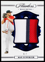 Max Scherzer 2020 Panini Flawless Patches Sapphire #35 #4/7 at PristineAuction.com