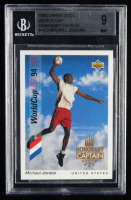 Michael Jordan 1993 Upper Deck World Cup 94 Preview English/Spanish Honorary Captains #HC3 (BGS 9) at PristineAuction.com