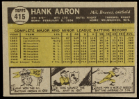 Hank Aaron 1961 Topps #415 at PristineAuction.com