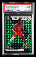 Zion Williamson 2019-20 Panini Mosaic Mosaic Green #269 (PSA 10) at PristineAuction.com
