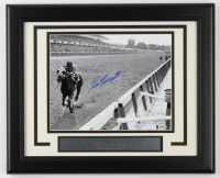 Ron Turcotte Signed 1973 Belmont Stakes 13.5x16.5 Custom Framed Photo Display (Beckett COA) at PristineAuction.com