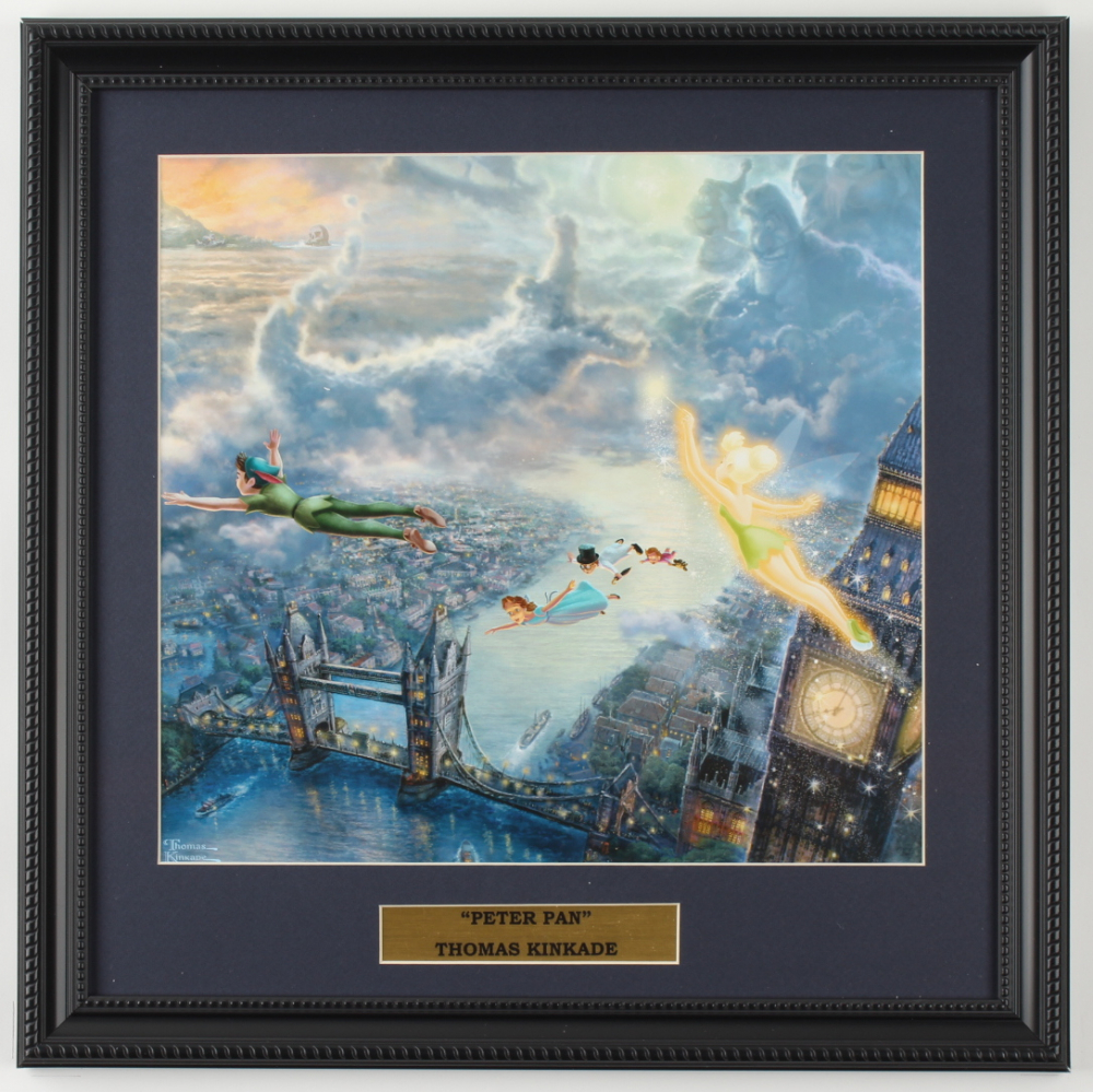 "Thomas Kinkade ""Peter Pan"" 16x16 Custom Framed Print Display at PristineAuction.com"