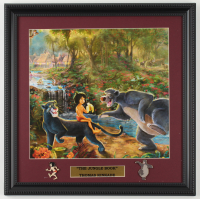 "Thomas Kinkade ""The Jungle Book"" 16x16 Custom Framed Print Display With (2) Pins at PristineAuction.com"