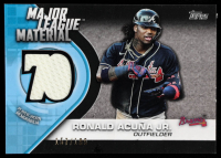 Ronald Acuna Jr. 2021 Topps Major League Material Relics Black #MLMRA #157/199 at PristineAuction.com