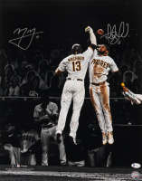 Fernando Tatis Jr. & Manny Machado Signed Padres 16x20 Photo (Beckett COA) at PristineAuction.com