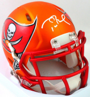 Tom Brady Signed Buccaneers Blaze Speed Mini Helmet (Fanatics LOA) at PristineAuction.com