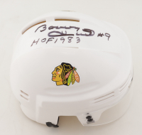 "Bobby Hull Signed Blackhawks Mini Helmet Inscribed ""HOF 1983"" (Schwartz COA) at PristineAuction.com"