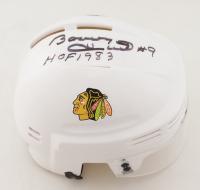 """Bobby Hull Signed Blackhawks Mini Helmet Inscribed """"HOF 1983"""" (Schwartz COA) at PristineAuction.com"""