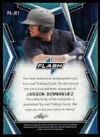 Jasson Dominguez 2020 Leaf Flash Autograph #BAJD1 at PristineAuction.com