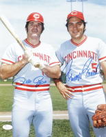 Johnny Bench & Pete Rose Signed Reds 11x14 Photo (JSA COA) at PristineAuction.com