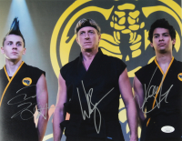 "William Zabka, Xolo Mariduena, & Jacob Bertrand Signed ""Cobra Kai"" 11x14 Photo (JSA COA) at PristineAuction.com"
