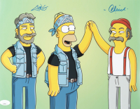 "Tommy Chong & Cheech Marin Signed ""The Simpsons"" 11x14 Photo (JSA COA) at PristineAuction.com"
