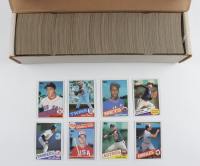 1985 Topps Complete Set of (792) Baseball Cards with Mark McGwire #401 Olympics RC, Roger Clemens #181 RC, Kirby Puckett #536 RC at PristineAuction.com