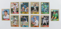 Complete Set of (792) 1987 Topps Baseball Cards with Mark McGwire #366, Bo Jackson #170 RC, Roger Clemens #340, Barry Bonds #320 RC at PristineAuction.com