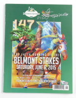 Victor Espinoza Signed 2015 Belmont Stakes Official Program (Steiner COA & Fanatics Hologram) at PristineAuction.com