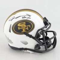 Vernon Davis Signed 49ers Lunar Eclipse Alternate Speed Mini Helmet (Beckett Hologram) at PristineAuction.com
