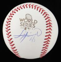Francisco Liriano Signed 2017 World Series Logo Baseball (Beckett COA) at PristineAuction.com