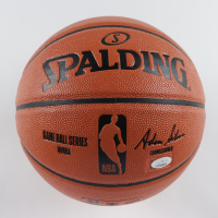 Giannis Antetokounmpo Signed Bucks Logo NBA Game Ball Series Basketball (JSA COA) at PristineAuction.com