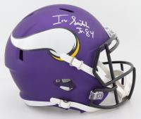 Irv Smith Jr.  Signed Vikings Full-Size Speed Helmet (Beckett COA) at PristineAuction.com