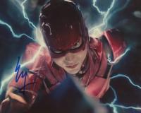 "Ezra Miller Signed ""Justice League"" 8x10 Photo (AutographCOA COA) at PristineAuction.com"