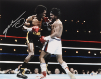 Sugar Ray Leonard Signed 11x14 Photo (Beckett COA) (See Description) at PristineAuction.com