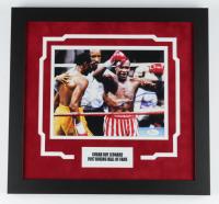 Sugar Ray Leonard Signed 16x17 Custom Framed Photo Display (JSA COA) at PristineAuction.com