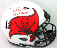 """Devin White Signed Buccaneers Full-Size Lunar Eclipse Alternate Authentic On-Field Speed Helmet Inscribed """"SB LV Champs"""" (Beckett Hologram) at PristineAuction.com"""