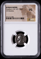 Faustina Jr. AD 147-175/6 Roman Empire AR Denarius Ancient Roman Silver Coin (NGC VG) at PristineAuction.com