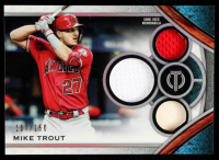 Mike Trout 2021 Topps Tribute Triple Relics #TTRMT #107/150 at PristineAuction.com