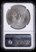 Mint Error - 2012 American Silver Eagle $1 One Dollar Coin - Obverse Struck Thru (NGC MS69) at PristineAuction.com