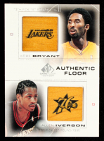 Kobe Bryant / Allen Iverson 2000-01 SP Game Floor Authentic Floor Combos #C13 at PristineAuction.com
