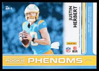 Justin Herbert 2020 Donruss Optic Rookie Phenoms Jerseys Horizontal Blue Hyper #3 at PristineAuction.com