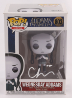 "Christina Ricci Signed ""The Addams Family"" #803 Wednesday Addams Funko Pop! Vinyl Figure (Beckett COA) (See Description) at PristineAuction.com"