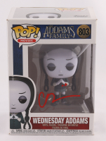 "Christina Ricci Signed ""The Addams Family"" #803 Wednesday Addams Funko Pop! Vinyl Figure (Beckett COA) (See Description) at PristineAuction.com"