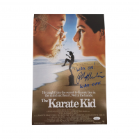 "Ralph Macchio Signed ""The Karate Kid"" 11x17 Photo Inscribed ""Wax On! Wax Off"" (JSA COA) at PristineAuction.com"