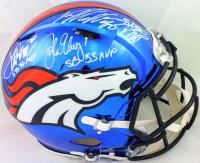 John Elway, Von Miller & Terrell Davis Signed Broncos Authentic On-Field Full-Size Chrome Speed Helmet with (3) MVP Inscriptions (JSA COA & Beckett Hologram) at PristineAuction.com