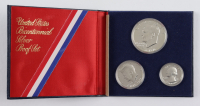 1776-1976 U.S. Bicentennial Silver Proof Coin Set with (3) Coins at PristineAuction.com