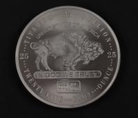 25 Troy oz .999 Fine Titanium Buffalo Bullion Bar at PristineAuction.com