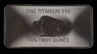 10 Troy oz .999 Fine Titanium Buffalo Bullion Bar at PristineAuction.com
