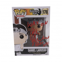 "Ralph Macchio Signed ""The Karate Kid"" #178 Daniel LaRusso Funko Pop! Vinyl Figure Inscribed ""Wax on Wax off"" (JSA COA) at PristineAuction.com"