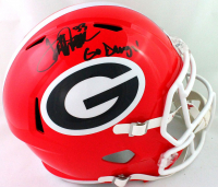"Terrell Davis Signed Georgia Bulldogs Full-Size Speed Helmet Inscribed ""Go Dawgs!"" (Beckett Hologram) at PristineAuction.com"